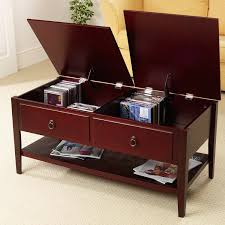 coffee table dark brown leather square