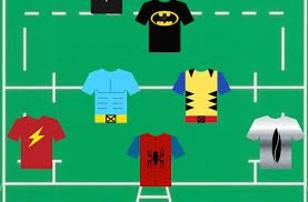 a super heroes rugby xv from the hulk to the flash a real super team