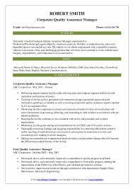Quality Assurance Manager Resume Samples Qwikresume