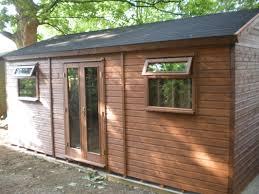 timber garden office. 20 X 12 Wooden Garden Office With Felt Shingles Timber E