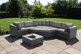 barcelona deluxe garden corner sofa set
