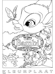 Spelletjes Voor Kinderen Kleurplaat Bambi
