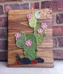 Western Rustic Decor Cactus Wood Sign Cacti String Art Nursery Room Decor