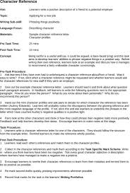 character reference samples 5 samples of character reference letter template cover letter