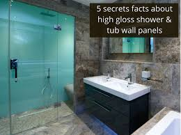 5 secret facts about high gloss acrylic shower and tub wall panels innovate building solutions
