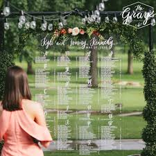 Wedding Seating Chart Acrylic Acrylic Seating Chart 4 Lauren Heim Studio