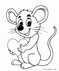 Small Picture Mouse Coloring Page