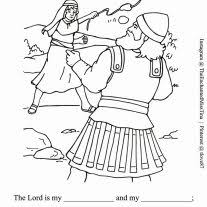 Coloring Page David And Goliath David Andrew Ralph Lauren David