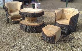 wood stump furniture. Tree Stump Furniture Unique Made From Stumps And Logs Wood