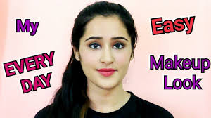 how to do makeup everyday hindi easy makeup for college office