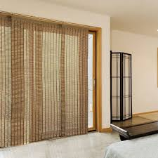 image of romantic patio door sliding panel shades from bamboo curtain panels outdoor also wool rug