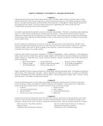 Personal Statement For Resume Examples Personal Resume Samples