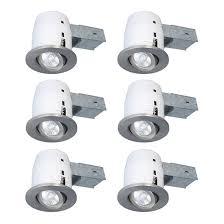 set of 6 recessed light fixtures