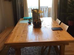 Best Custom Made Rustic Farmhouse Diningkitchen Table And Bench For