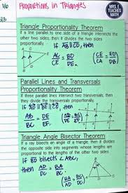 proportions in triangles foldable