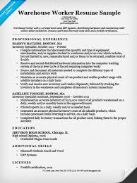 Resume Examples For Warehouse Extraordinary Best Of 48 Certified Resume Writer Or Resume Sample Objectives And