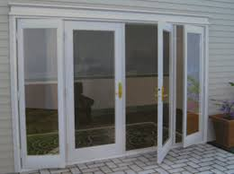 stunning white finished wooden clear glass swing door frames as inspiring patio doors added concrete paver views