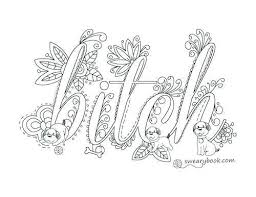 Free Printable Swear Coloring Pages Free Swear Word Coloring Pages
