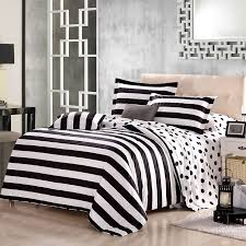 for julie s room black and white polka dot and stripe print modern chic traditional reversible organic cotton full queen size bedding sets