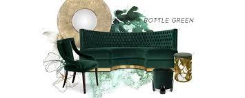 interior design trends bottle green
