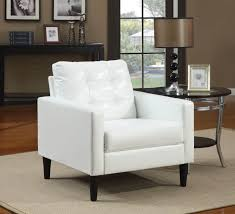 Black and white chairs living room Room Decor Balin Collection Accent Chair From Acme Features Stuffed Cushion Back In Polyurethane Faux White Leather Pier 37 White Modern Accent Chairs For The Living Room