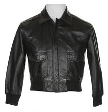 vintage 80s black leather er jacket xs