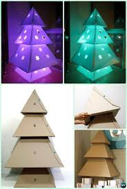 diy lighted cardboard tree lights instruction diy lights ideas crafts