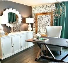 trendy office. Trendy Office Makeover Idea: Cheetah Spots Wall Stencils S