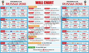 Fifa World Cup 2018 Fixtures Wallchart World Cup Fixtures