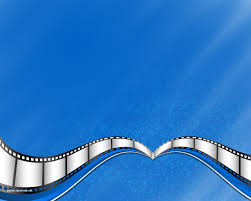 Movie Powerpoint Template Blue Movie Film Strip Backgrounds For Powerpoint Business