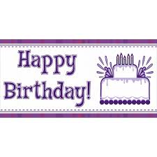 Purple Happy Birthday Banner Purple Birthday Banners Rome Fontanacountryinn Com