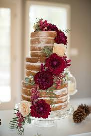 fall wedding cake ideas. marsala and ivory fall floral cake wedding ideas