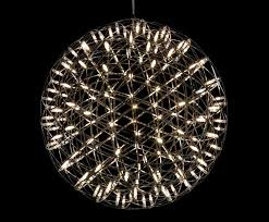 moooi s raimond chandelier bursts with dozens of tiny led lights