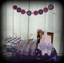 Turquoise Baby Shower Decorations Pink Purple Turquoise Its A Girl Baby Shower Party Ideas Photo