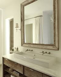 double faucet bathroom sink vanity. bathroom. bathroom with white sink and faucet on reclimed wood vanity cabinet using marble double