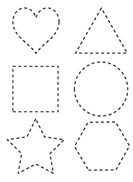 Small Picture Dotted Line Shapes Coloring Page NetArt Teach Fine motor