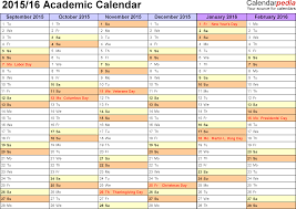 Academic Calendar Templates Academic calendars 2424 as free printable Word templates 1