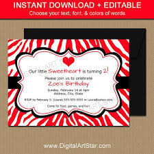 Valentines Day Invitations Awesome Red Zebra Valentines Day Invitations Kids Valentine Birthday