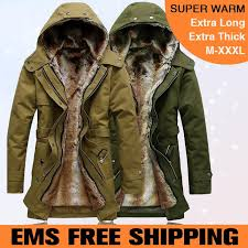 ems faux fur lining men fur trench coat with hood winter warm long jacket thermal parkas plus size m xl mwm218 coat with fur collar coat children coat l