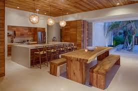 2017 Stunning Tropical Kitchen Design With Wood Furniture (Image 3 of 33)