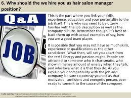 7 6 salon manager description