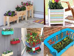 collage of easy diy flower gardening ideas