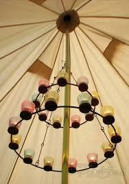 tea light chandeliers double multi coloured chandelier candle uk
