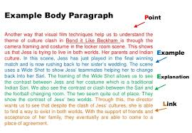 bend it like beckham theme essay task example body paragraph 16