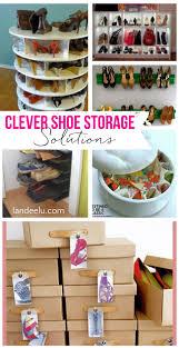 Shoe Organizer Ideas Clever Shoe Storage Ideas Landeelucom
