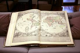 huge map book open book by barefootliam stock