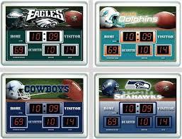stupendous scoreboard wall clock led team sports america nfl bluetooth clo state wall clock thermometer scoreboard