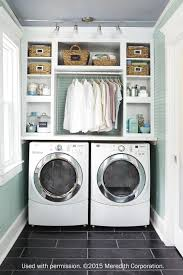 Brilliant small functional laundry room decoration ideas Organization This Stylish Laundry Room Also Found On Pinterest Utilized Ample Storage Space With Built In Cabinets They Also Made Room For Drying Rack Above The Unlikely Hostess 11 Brilliant Laundry Room Ideas The Unlikely Hostess
