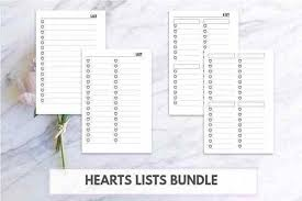 Cute Lists Friday Freebie Cute Lists For Personal Pocket Planners