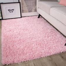 Light Pink Fluffy Rug Baby Pink Shaggy Rug Non Shed Thick 50mm Pile Soft Fluffy